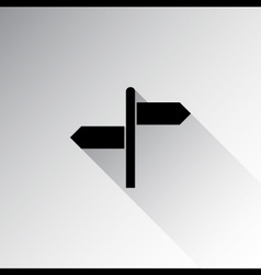 Direction sign with blank spaces for text vector