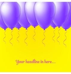 Abstract Creative concept balloon isolated vector image