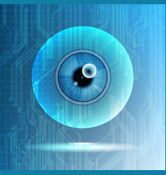 Abstract technological eye scanning isolated vector
