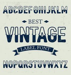 Best vintage font poster vector