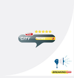 City news icon for journalism of news tv channels vector