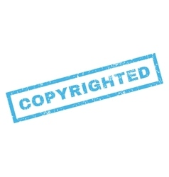 Copyrighted rubber stamp vector