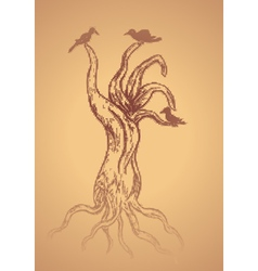 Dead Tree Sketch2 vector image