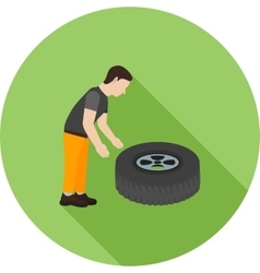 Fixing punctured tyre vector
