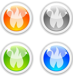 Flame buttons vector image