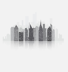 Fog city copy vector