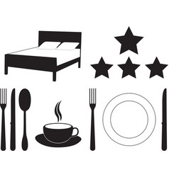 Hotel and motel services vector