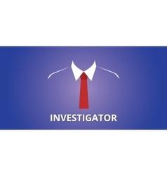 investigator investigation person vector image