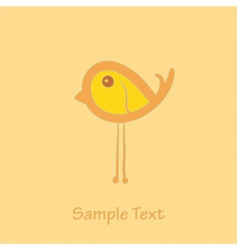 little bird vector image vector image