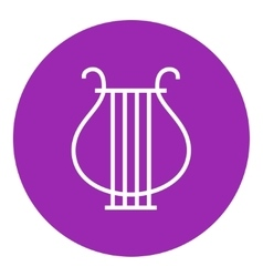 Lyre line icon vector