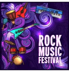 Music festival poster vector image vector image