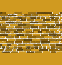 Seamless texture of realistic old brick wall with vector