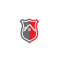 Security guard logo design shield template vector