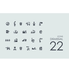 Set of dismissal icons vector