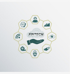 sign financial technologies vector image