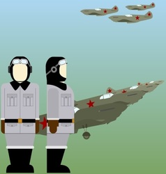 Soviet pilots of the second world war vector