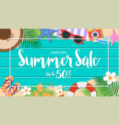 Summer sale background season vacation weekend vector