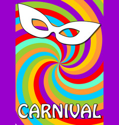 Swirly colorful carnival background in vivid vector