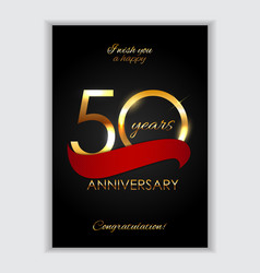 template 50 years anniversary congratulations vector image