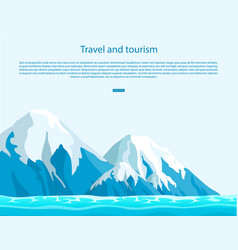 Travel and tourism all around world vector