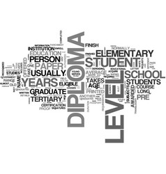 what is a diploma text word cloud concept vector image vector image