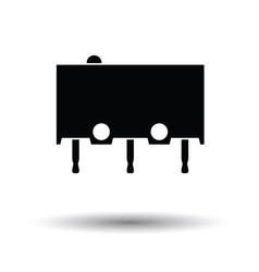 Micro button icon icon vector