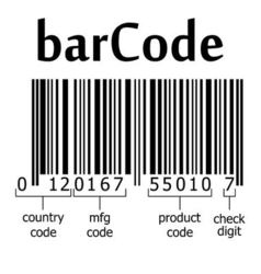 decoding of the barcode vector image