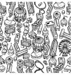 fair seamless pattern vector image