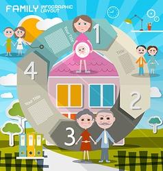 Circle paper retro ui flat design infographics vector