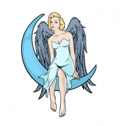 blonde angel vector image