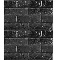 Seamless pattern of black brick wall vector