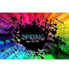 Spring colorful explosion of colors background for vector