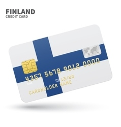 Credit card with finland flag background for bank vector
