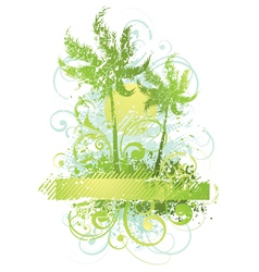 Abstract plants and trees vector