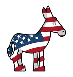Donkey democrat symbol of political party in vector