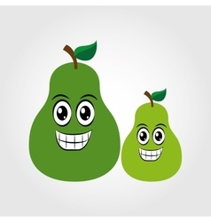 Fruit character design vector