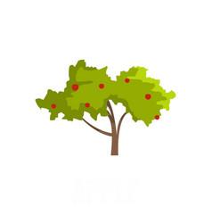 Apple tree icon flat style vector