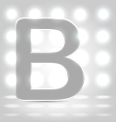 B over lighted background vector image vector image