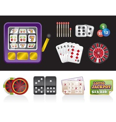 casino and gambling tools icons vector image vector image