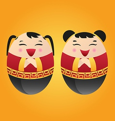 chinese doll vector image vector image