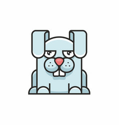 cute hare icon on white background vector image