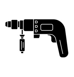 drilling machine - perforator icon vector image