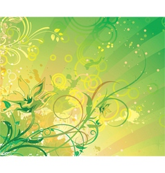 fantasy floral background vector image vector image