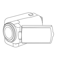 Figure camcorder icon image vector
