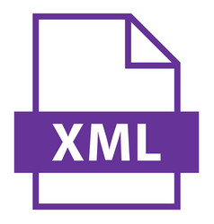 File name extension xml type vector