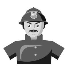 Fireman icon gray monochrome style vector image