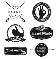 Hand Made logo design insignias vector image vector image