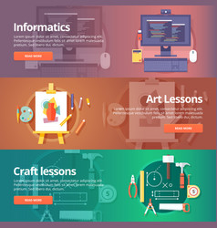 informatics lesson computer technologies vector image vector image