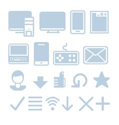 internet technologies icon set vector image