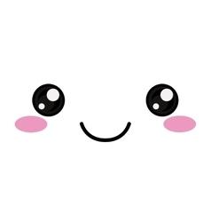 kawaii happy face design vector image